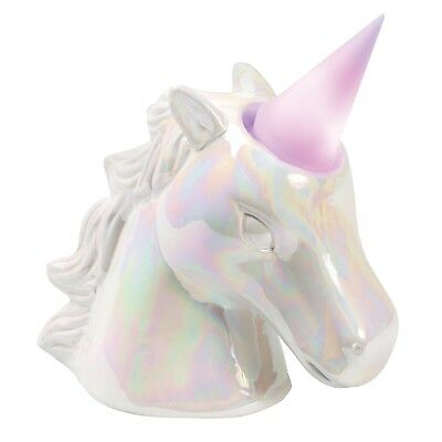 Unicorn Night Light Coin Bank - Removable Color-Changing LED Lighted Horn