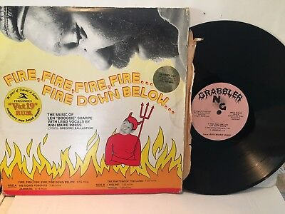 "RARE Len Boogsie Sharp ""Fire Down Below"" Islands Modern Soul Boogie LP"