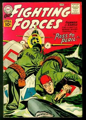 """Our Army at War #61 VG/FINE (1961) DC 10c Silver Age """"Pass to Peril!"""" shark cvr"""