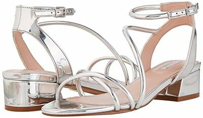 156b67106937 Rrp £99 Carvela Kg Governor Size 3 36 Silver Mirror Low Heel Sandals Shoes  Bnwb