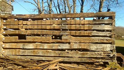 Disassembled Log Cabin 1850's reclaimed lumber recycle reuse! Hand hewn