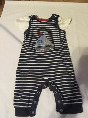 Shorts dungaree suit And Vest, 3-6 months