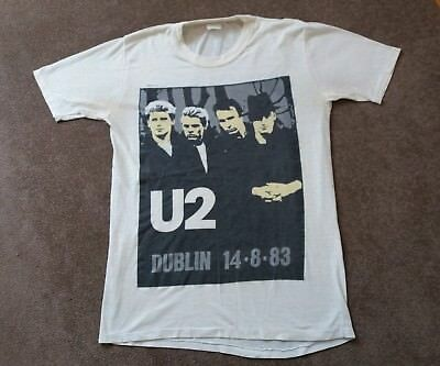 Original vintage U2 Phoenix Park Dublin 14th August 1983 t-shirt & ticket stub