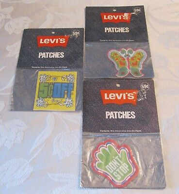 Vintage Levis Iron On Patches - New