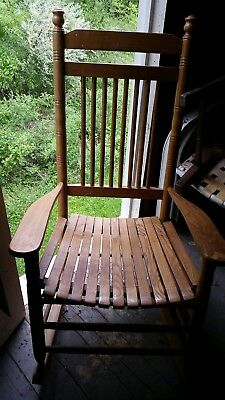 Remarkable Antique American Caned Rocking Chair 50 00 Picclick Lamtechconsult Wood Chair Design Ideas Lamtechconsultcom