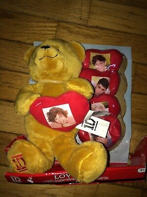 1 Direction One Direction Love Bear With Interchangeable Hearts Rare Collectors