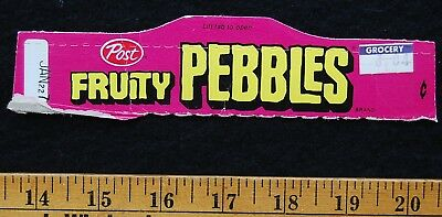 [ 1970s Post FRUITY PEBBLES Cereal - Vintage Cereal BOX TOP ]