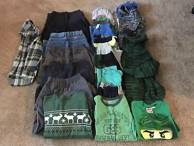 Boys Fall clothes Size 8 Lot of 20. Pants, shirts And 2 hoodies.