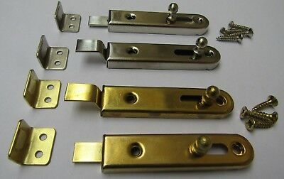 SMALL LARDER SLIDING BOLT  -old retro style cupboard door slide lock latch