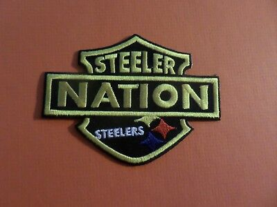 Pittsburgh steelers NATION  Embroidered 2-7/8 x 4 Iron Or Sew On Patch