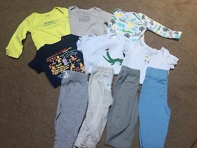 Lot Of 10 Gender Neutral 9 Month Baby Clothes