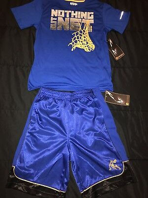 Boys And1 Basketball Outfit Shorts And Shirt Size 10-12 NWT