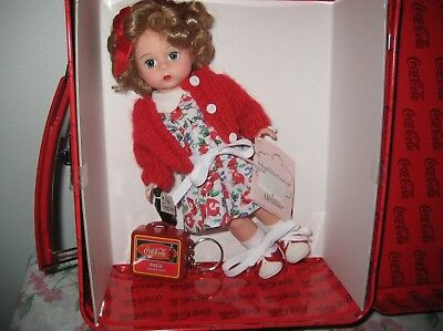 """Madame Alexander #28275 School Days Coca-Cola 8"""" Doll with Metal Lunch Box MINT"""