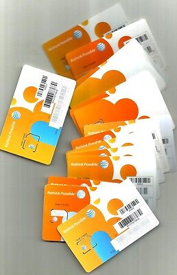 17 New At&t Cell Phone Sims Cards