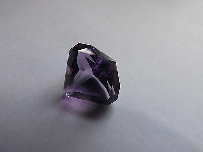 Super Faceted Congo Amethyst Kite Shape Cut 9.4cts 14x15mm AAA+!!! Awesome Color