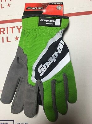 Snap On Large Green Work Gloves. Touch Screen Compatible.