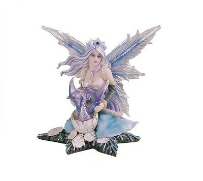 "4.75"" Inches Fairy with Dragon Statue Figurine Figure Fairies Magic Fantasy egg"