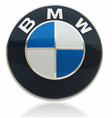 Car Hood Badge Emblem Logo 2 Pins For BMW 1 3 5 6 7 X3 X5 Series Rear Blue 74mm