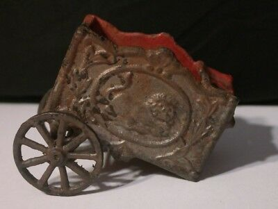 Vintage Cast Iron Circus Wagon- Red Lion 4 inch No Horse