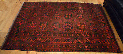 Beautiful Antique Persian Rug 215x145 mahogany 100% wool before 1920s unique