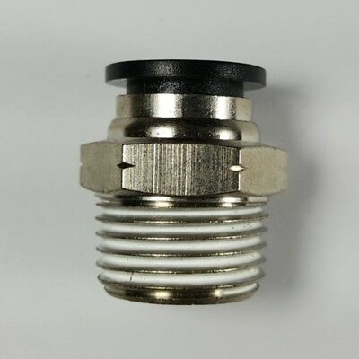 """Push to connect fittings Male connector 1/2"""" OD tube 1/2 NPT thread PKG of 10"""