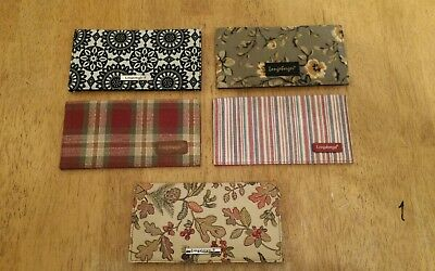 Longaberger Check Fabric Check Book lot of 5