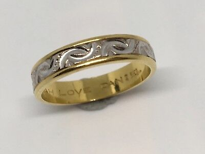 18KT Yellow & White Gold Ring Scrap or Wear