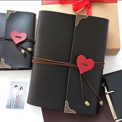 120 Photos Album Leather Scrapbook Travel Holiday Retro Wedding Party Gifts