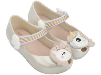 e288f1421b9 NEW MINI MELISSA Ultragirl Unicorn in White Pink - toddler size 5-12 ...