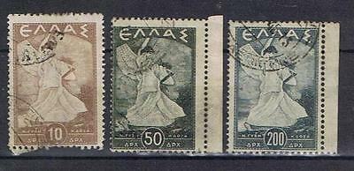 Greece 1945 Glory issue selection SG 612, 614, 616