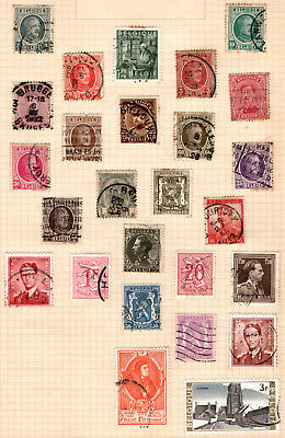 Belgium 1912 onwards on album page 26 stamps Used
