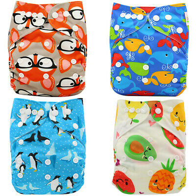 Boys Girls Cloth Diapers Pocket Diapers Baby Nappies Unisex Washable Nappy