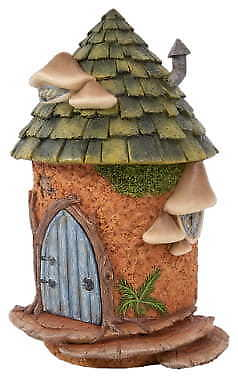 Miniature Dollhouse FAIRY GARDEN - Half Moon Fairy Cottage - Accessories