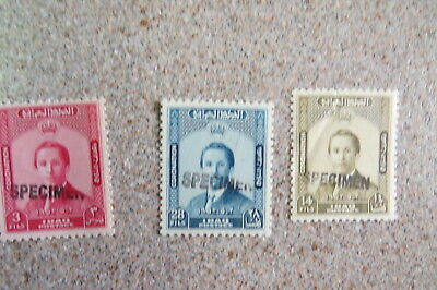 Iraq Bolivia  specimen muh set back stamped AW DRAHN