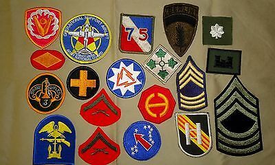 19 Different US Military Patches - WWII through Korea & Vietnam to Recent Types