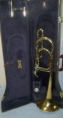 Conn Elkhart IND Vintage 71h  rotor bass trombone and  Bach case and Mouth piece