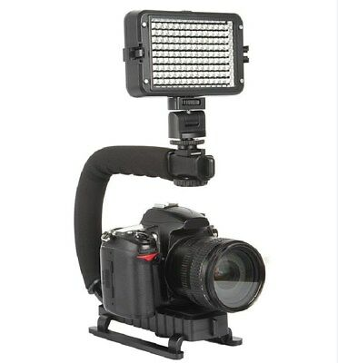Video Camera Stabilizer Shoe Mount Handle Grip Rig for Iphone Canon Nikon DSLR