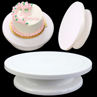 28cm Cake Decorating Rotating Turntable Icing Kitchen Display Platform Stand