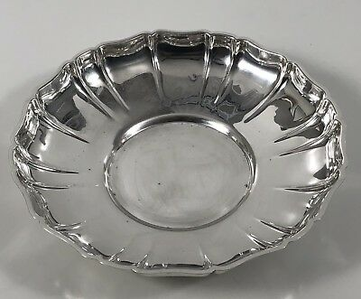 Antique Wallace 203 Sterling Silver Low Bowl and Scalloped Rim Design