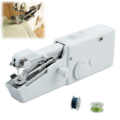 Mini Portable Hand Held Stitch Clothes Fabric Sewing Machine Needlework Cordless