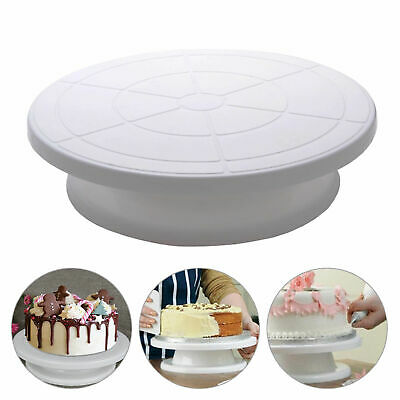 28Cm Rotating Cake Icing Deocrating Revolving Kitchen Display Stand Turntable Uk
