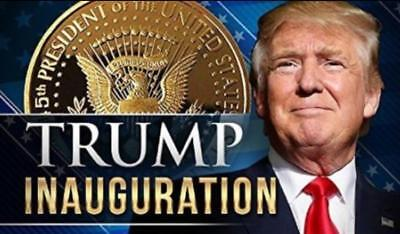 2019 DONALD TRUMP Inauguration Gold Plated President Coin Commemorative EAGLE US