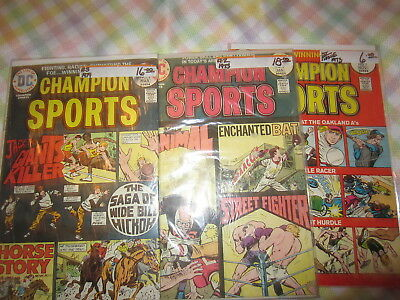 Champion Sports 1 - 3  Complete Series DC 1973  F+