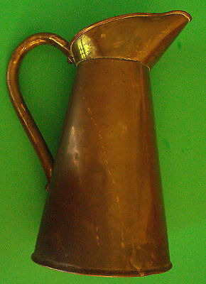 Vintage Antique Brass Pitcher Stamped 5 - 25 J.m Possibly British Made