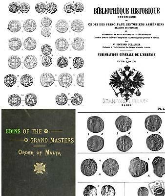 230 books on coins of Byzantium Crusaders Malta Cilicia Christian East  Axum DVD
