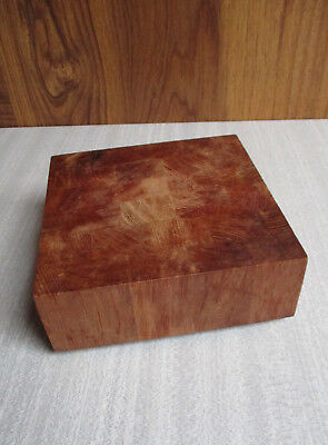 """Vintage 6"""" Square Cutting Board Chopping Block Cheese Board - Thick Wood Heavy"""