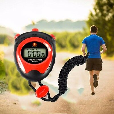 Stopwatch Handheld Digital LCD Sports Stopwatch Chronograph Counter Timer