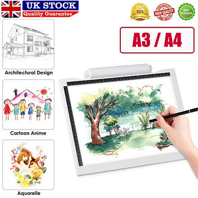A3 A4 LED Ultra Slim Art Craft Drawing Copy Tracing Tattoo Lights Box Pad Board