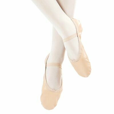 Danzcue Adult Full Sole Leather Ballet Dance Slipper Shoes