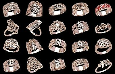 set #W23 of 20 pcs Wax Patterns for lost wax casting Gold or Silver Jewelry